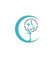 nose care logo design template vector image