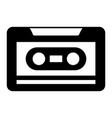 old retro audio tape record listen vector image vector image