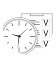 plan time and work line art icon vector image vector image