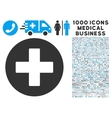 Plus Icon with 1000 Medical Business Symbols vector image vector image