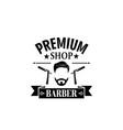 premium barbershop salon mustaches icon vector image vector image