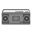 radio with cassette player electronic sign vector image vector image