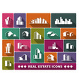 real estate logo set vector image vector image