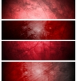 Red textural backgrounds set vector image vector image