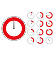 red timers set vector image vector image