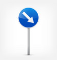 road blue signs collection isolated on white vector image