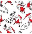 Santa and gifts seamless vector image vector image