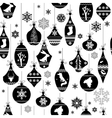 Seamless black and white pattern with traditional vector image vector image