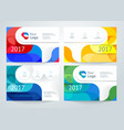 set of abstract horizontal banner vector image vector image