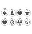 Set of psychology symbols vector image vector image