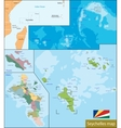 Seychelles map vector image vector image