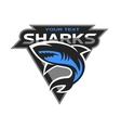 Sharks logo for a sport team vector image