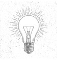 sketch light bulb on grunge background vector image