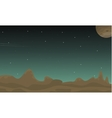 Space landscape with stars collection vector image vector image