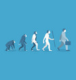 stage of human evolution from monkey to vector image