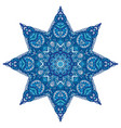 star blue and white pattern vector image vector image