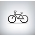 stylized bicycle vector image