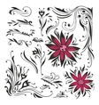 Swirls and curls set vector image vector image