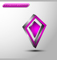 the 3d dimond vector image vector image