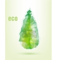 triangular drop green concept of ecology vector image vector image
