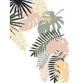 tropical vertical banner with monstera and vector image