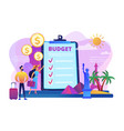 vacation fund concept vector image vector image