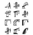 various types bridges in perspective vector image vector image