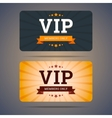 Vip club card design templates in flat style vector image vector image