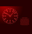 watch dial with hands from futuristic polygonal vector image vector image