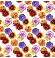 Watercolor zinnia pattern vector image