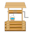 well with water vector image vector image
