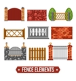 Fence Design Elements Set vector image