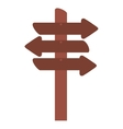 wooden arrows signal isolated icon vector image