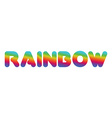 Rainbow Multicolored letters rounded typography vector image