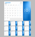 set of calendar pages for 2017 year week starts vector image