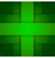 Abstract green rectangle cross shapes background vector image