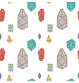 Hand drawn abstract diamond seamless pattern vector image