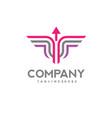 line arrow logo icon winged vector image