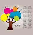 2015 splat tree calendar vector image vector image
