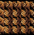 antique gold baroque seamless pattern damask vector image vector image