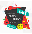 banner sale black friday special deal up to 70 of vector image vector image