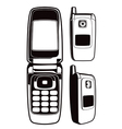 black and white cellphone vector image vector image