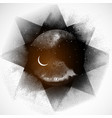 black space background with stars and crescent vector image