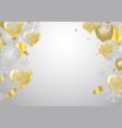celebration party banner with balloons background vector image