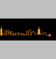changzhou light streak skyline vector image vector image