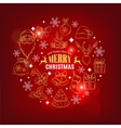 Christmas card with decorative icons vector image vector image
