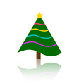 christmas tree simple color flat icon vector image