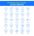 cloud service icons - futuro blue 25 icon pack vector image