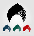 Colorful turbans or headgear vector image vector image