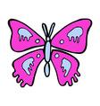 comic cartoon butterfly vector image